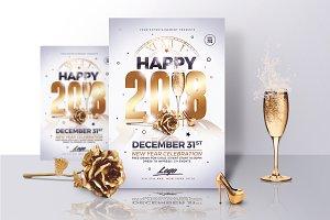 Classy New Year 2018 Invitations