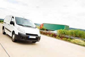 Delivery Van on Highway