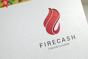 Fire Cash Logo Template