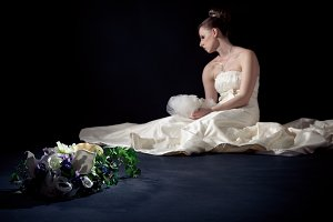 Desperate Bride In Studio