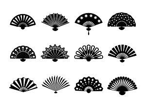 Chinese or japanese beautiful fans