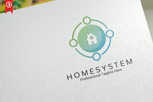 Circle Home System Logo Template