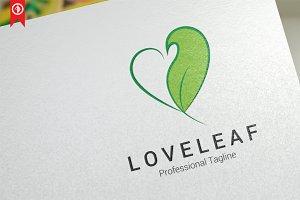 Love Leaf Logo Template