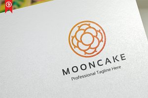 Moon Cake Abstract Logo Template