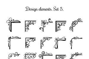 Vintage corner design elements