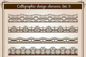 Calligraphic border set