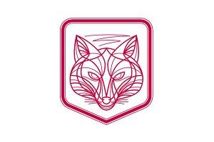 Fox Head Crest Monoline