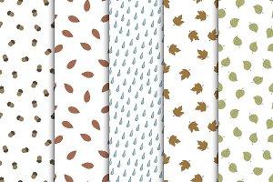 Autumn seamless hand drawn patterns