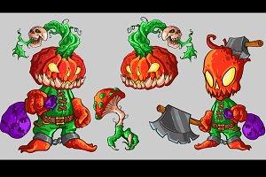 Halloween vector characters pack.