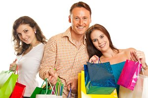 Group Of Young People Enjoying Their Shopping Spree