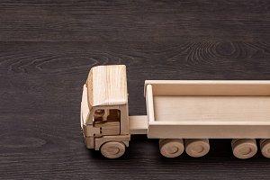 Wooden car model.