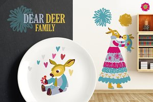 Dear Deer Family: Moms, Dads, Babies