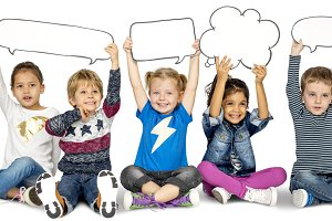 Children Happy Speech Bubble (PNG)