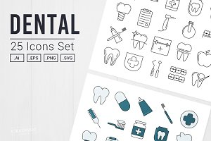 Dental UI Icons Set