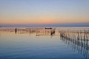 Sunset at Albufera lake, Spain