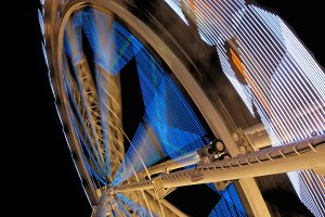 Fairground ferris wheel