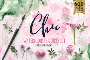 CHIC WATERCOLOR TEXTURES