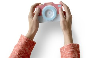 Human Hand Holding Camera (PNG)