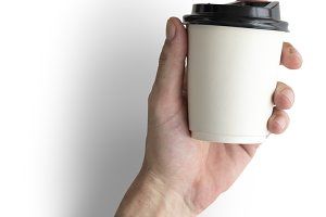 Hand Holding Coffee Cup Drink (PNG)