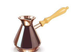 Turkish Coffee pot with handle.