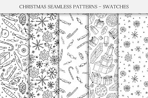 Handdrawn seamless Christmas pattern