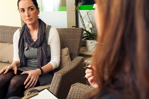 Patient Talking to Psychotherapist