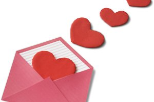 Love Letter Hearts Romance (PNG)
