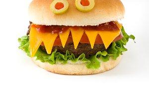 Halloween burger
