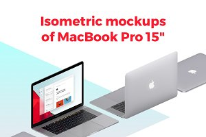 Isometric MacBook pro 15""
