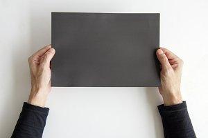 HandHolding Paper Card (PNG)
