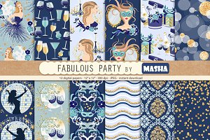 FABULOUS PARTY digital papers