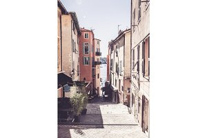 Street Scene In Villefranche, Cote D'azur, France