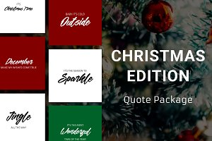 Christmas Edition - Quote Package