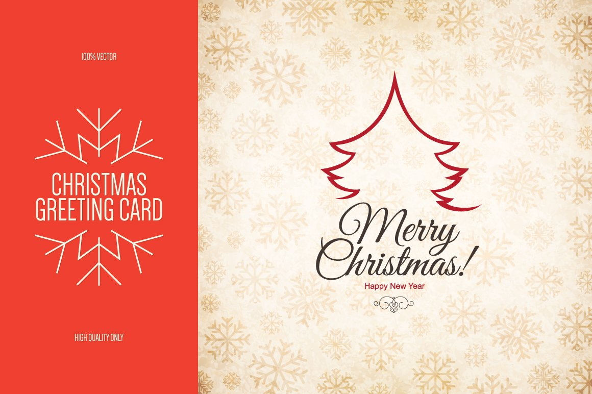 Christmas and New Year greeting card ~ Brochure Templates ~ Creative ...