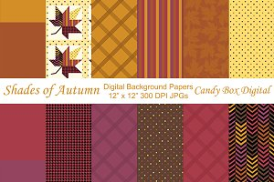 Shades of Autumn Digital Papers