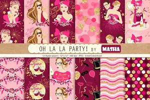 OH LA LA PARTY digital papers