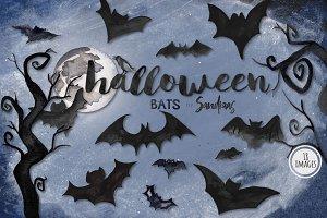 Halloween bats clipart