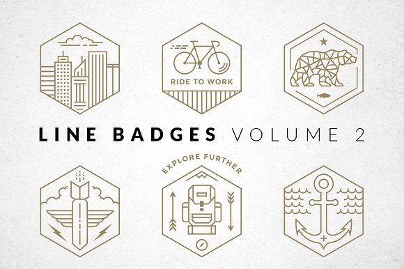 Line Badges - Volume 2 in Logo Templates