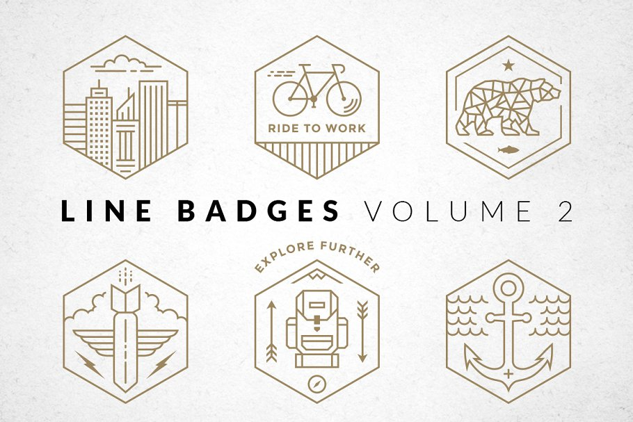 Line Badges - Volume 2 in Logo Templates - product preview 8
