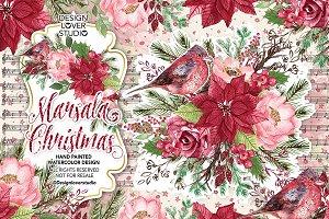 Marsala Christmas design