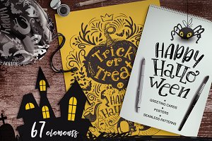 Hand-drawn Halloween Clipart