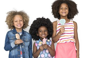 Children Smiling Friends Sweet (PNG)