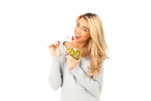 Young Woman Having Some Salad