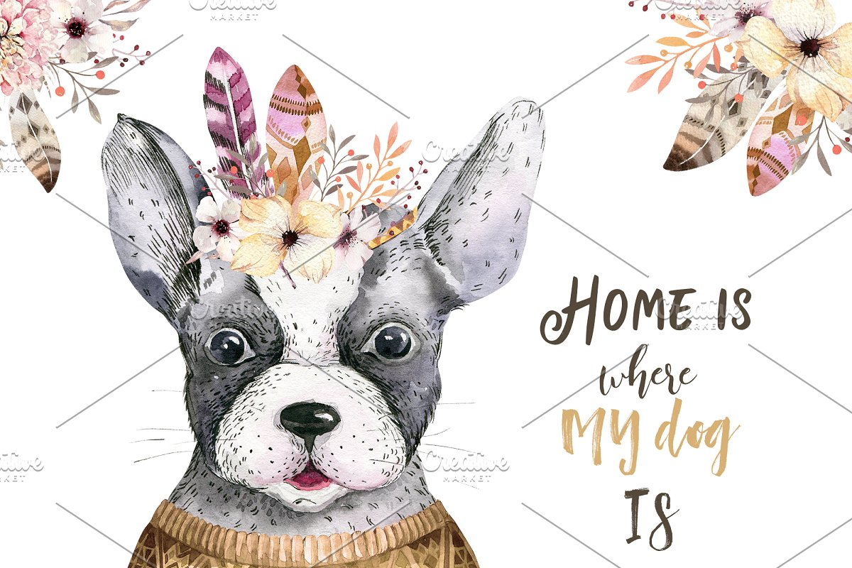 Cute dog collection ~ Illustrations ~ Creative Market