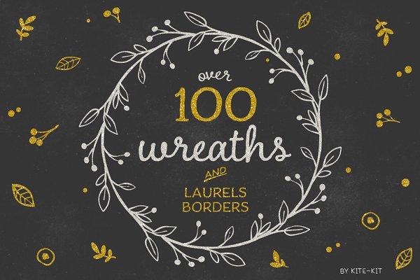 Wreaths, Laurels & Borders