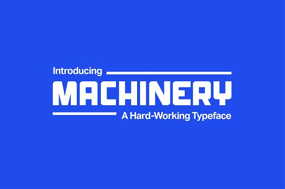 Machinery Industrial Font Now 5 Display Fonts Creative Market