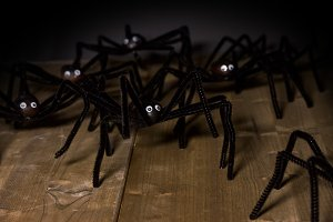 toy spiders attack