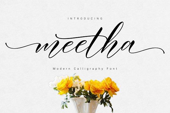 Meetha Script Fonts Creative Market