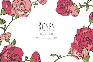 Roses - Digital Clip Art