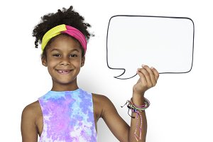 Girl Smile Speech Bubble (PNG)